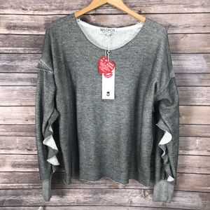 NWT! Wildfox Gray Sweater Top Sz M